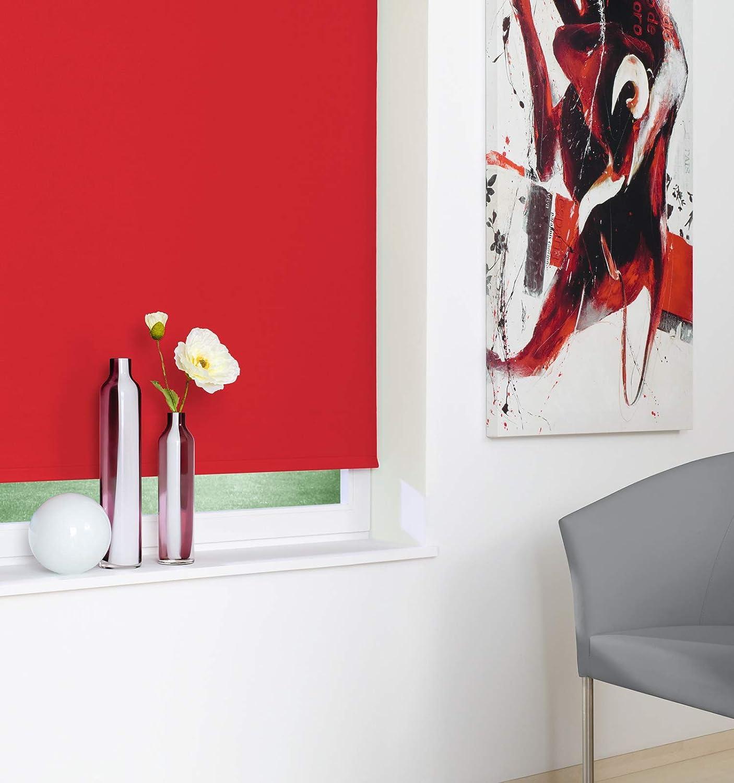 Seitenzugrollo Kettenzugrollo Fenster Rollo 8 Farben Farben Farben Breite 62 bis 242 cm Höhe 160 cm Vorhang blickdicht halbtransparent lichtdurchlässig Sonnenschutz Blendschutz (Größe 242 x 160 cm Farbe Weiß) B07939M756 Seitenzug- & Springrol 3fd62f
