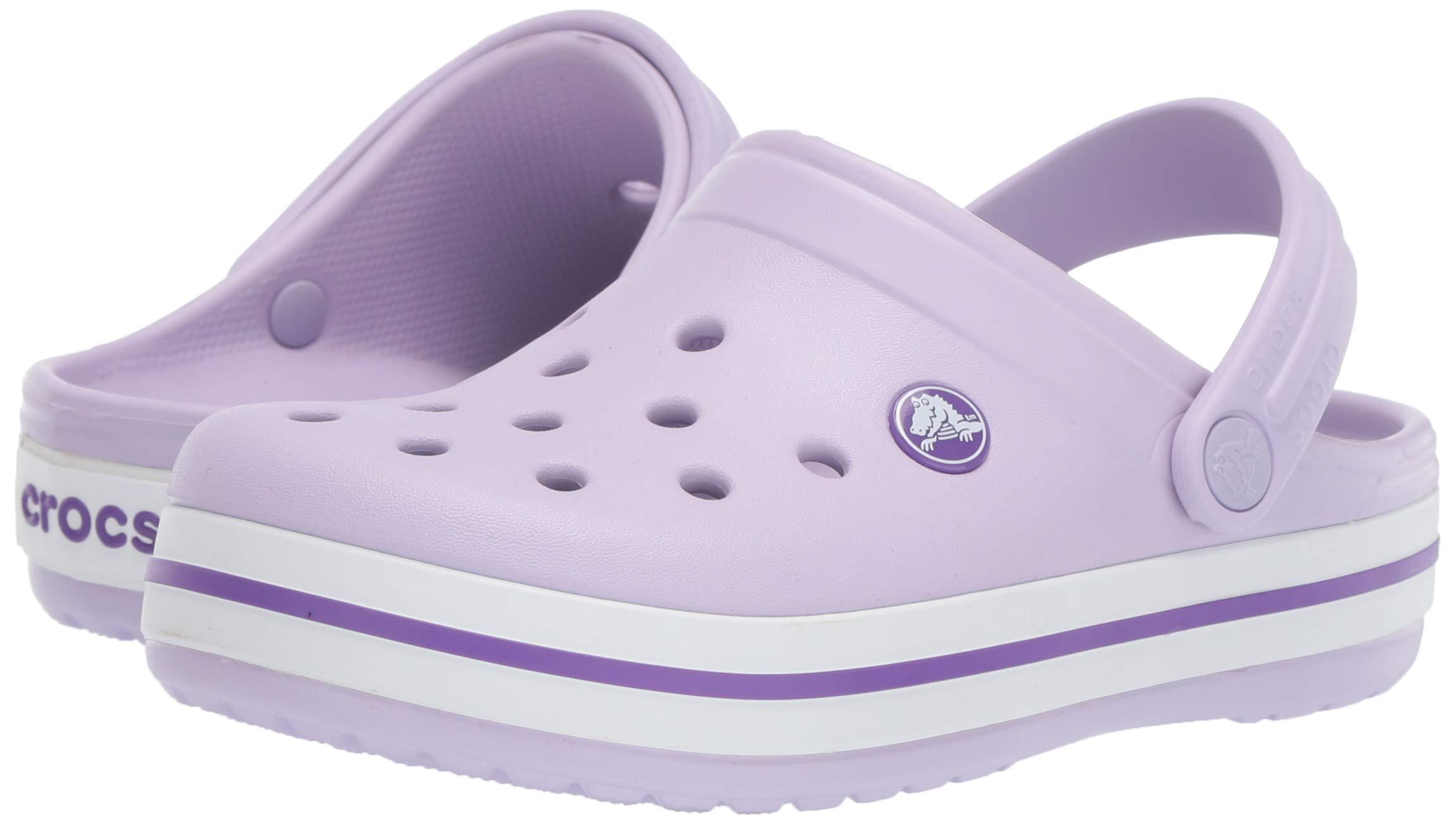 Crocs Kids' Crocband Clog, Lavender/Neon Purple, 10 M US Toddler by Crocs (Image #6)