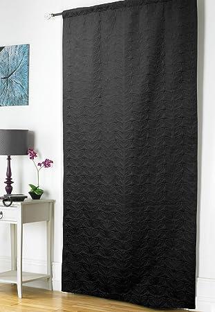 Embossed Thermal Door Curtain - Black: Amazon.co.uk: Kitchen & Home