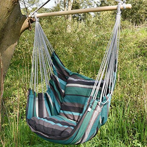 Amazoncom Prime Garden Green Stripe Soft Comfort Hanging