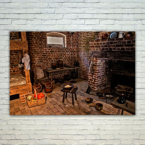 18th Fireplaces Century (Westlake Art Poster Print Wall Art - Hearth Interior - Modern Picture Photography Home Decor Office Birthday Gift - Unframed - 4x6in)