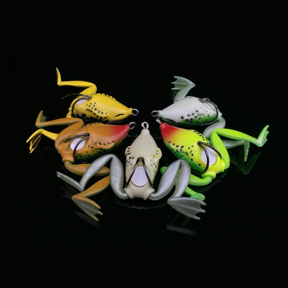 Zinniaya Piccola Dimensione Rana di plastica Lure Snakehead Lure Topwater Simulazione Rana Fishing Lure Soft Bass Bait Fishing Accessories