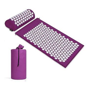 Amazon.com: GZQ Acupressure Mat and Pillow Set Massager Yoga ...