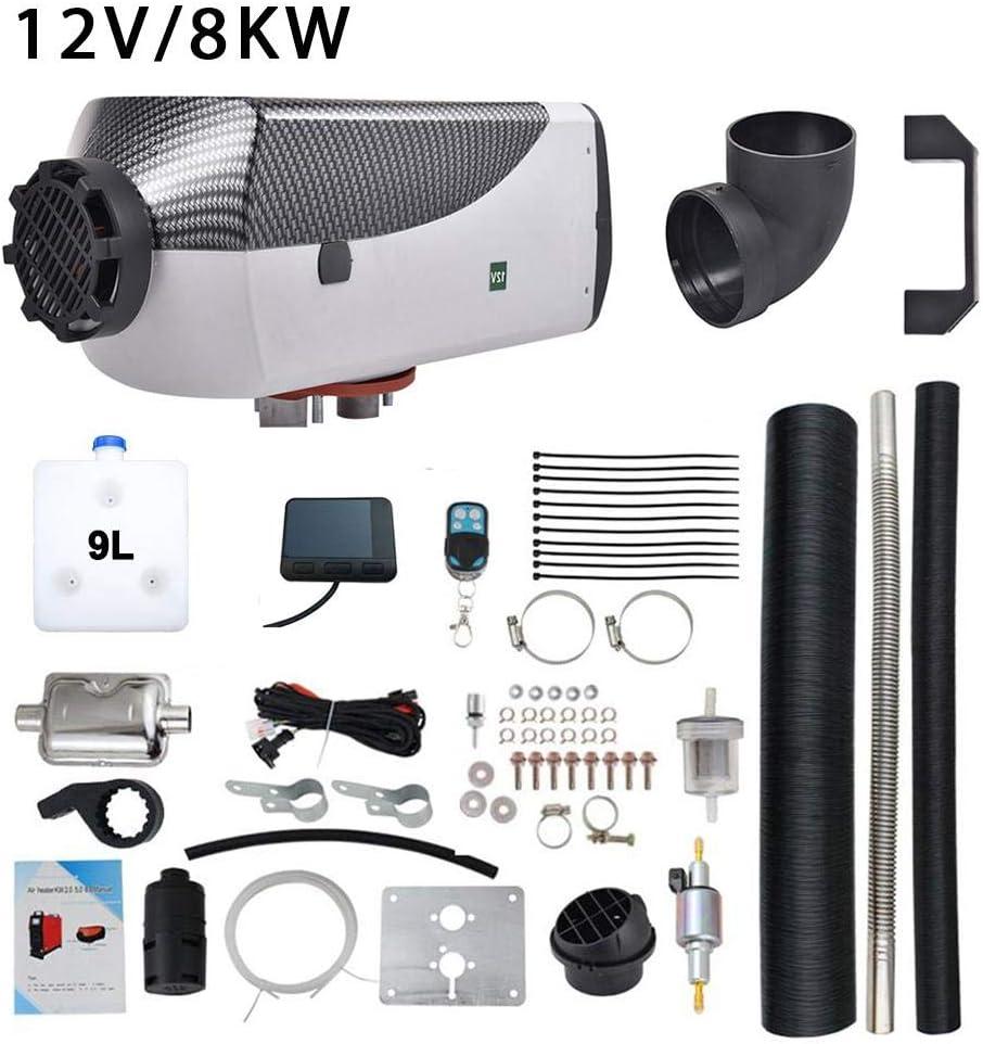 Urben Life Calentador De Aire Diesel, 12/24V 8KW Control Remoto LCD Calefacción De Combustible De Aire Diesel para Automóvil/Camioneta/Camión Grande, Calentador De Estacionamiento