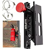 AUFER 1 Year Warranty-Universal Adjustable Roll Bar Fire Extinguisher Mount Holder with 4 Clamps for Jeep Wrangler UTV…