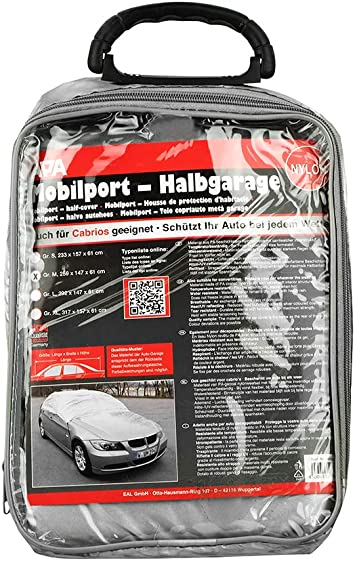 Halbgarage Nylon Für Limousine 38501 Grösse M L 259 X B 147 X H 61 Cm Auto