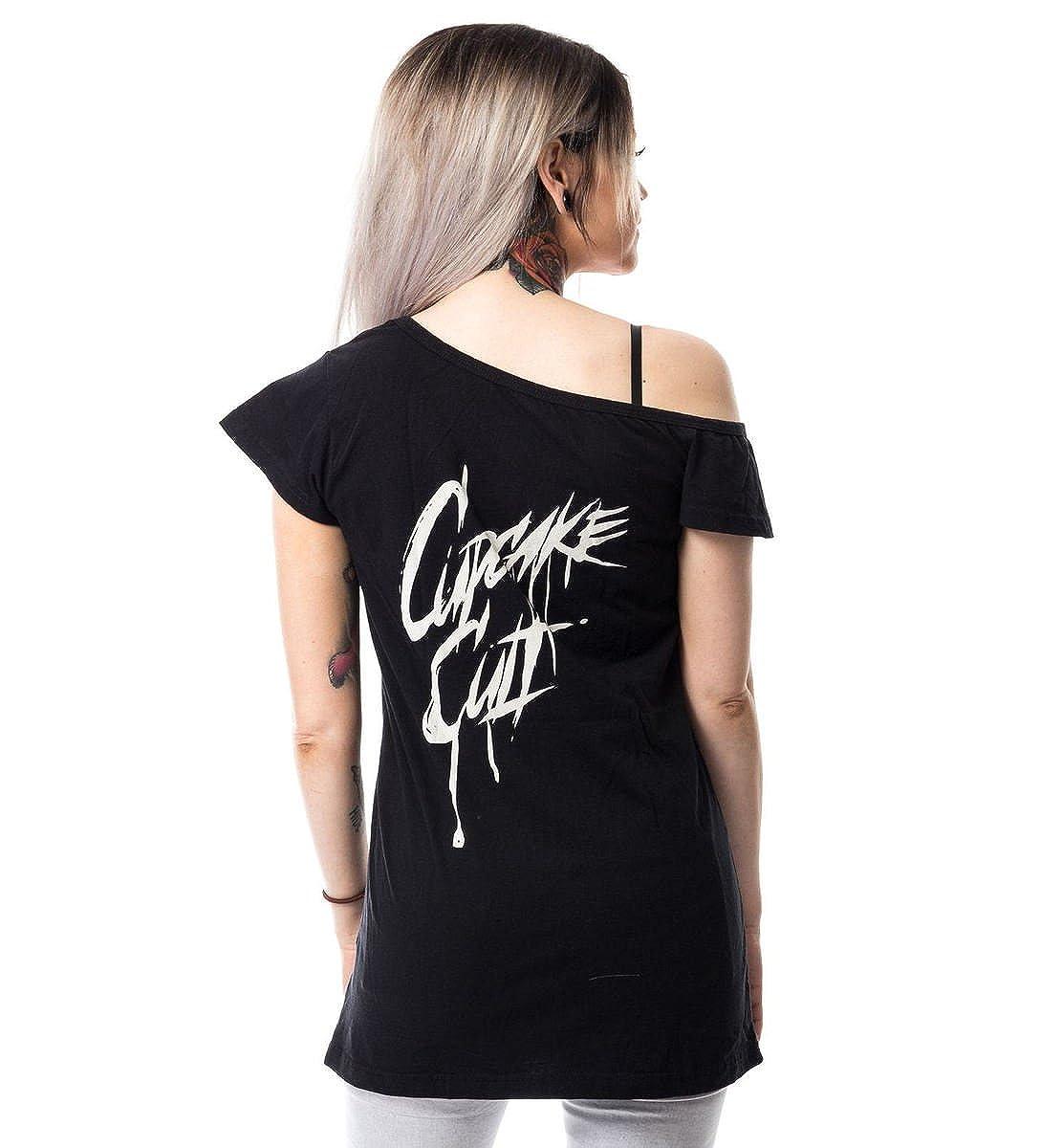 Cupcake Cult t-Shirt Dead Inside Off Shoulder T POI179