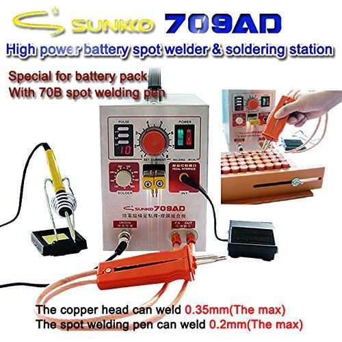 SUNKKO 709AD 15KVA High Power Battery Spot Welder & Soldering Station