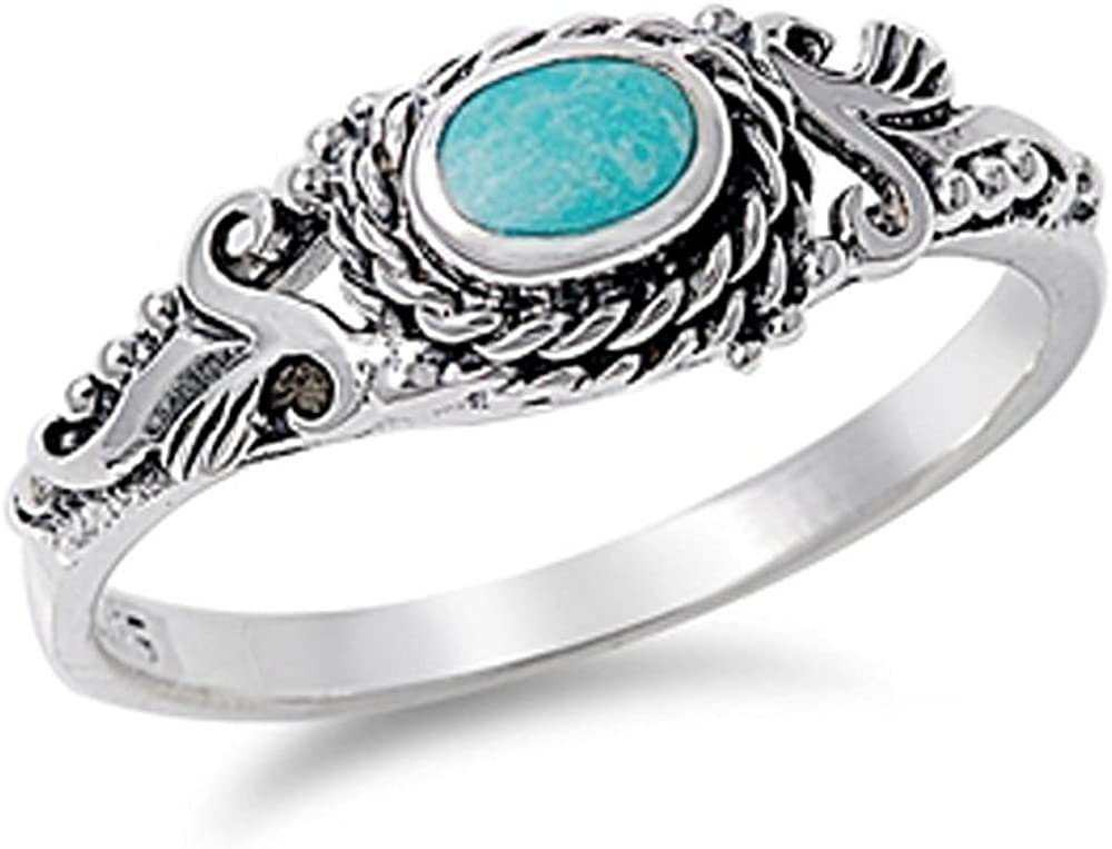 Your Choice Gemstone Antique Vintage 925 Oxodized Sterling Silver Ring