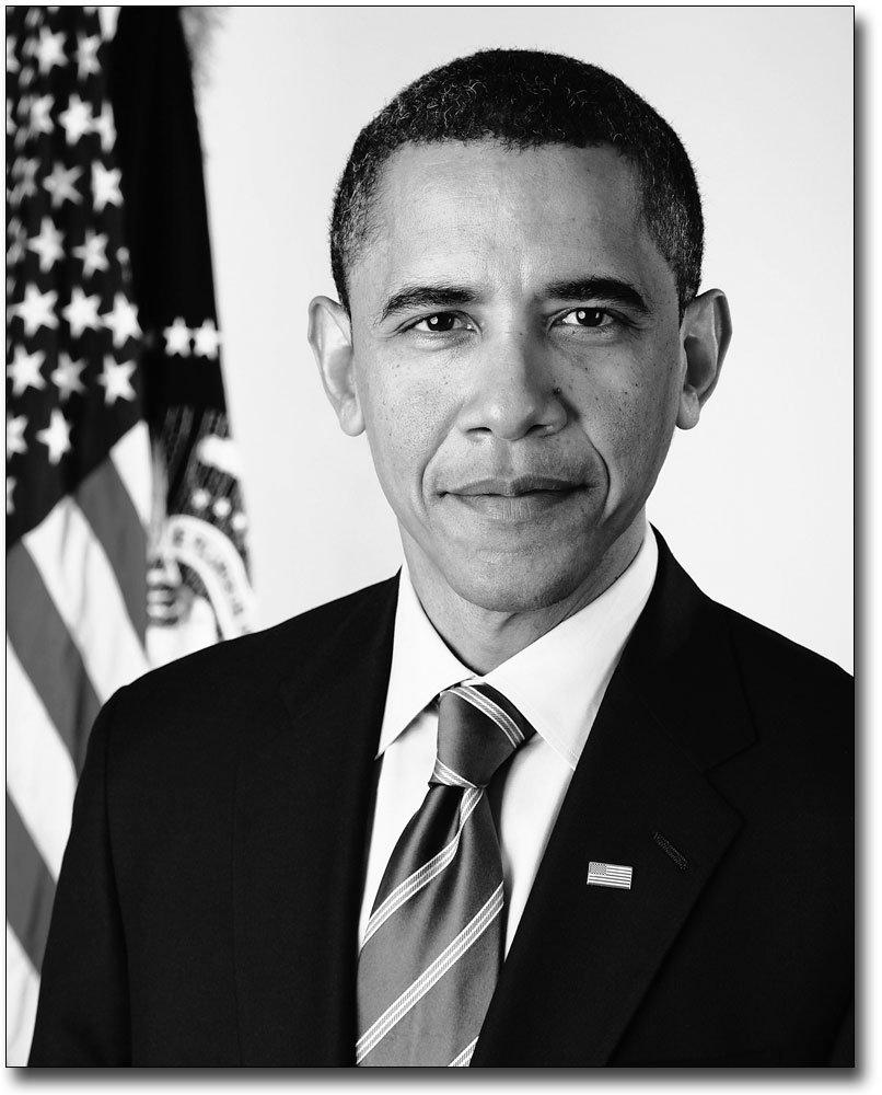 Amazon com official presidential portrait barack obama 8x10 silver halide photo print photographs posters prints