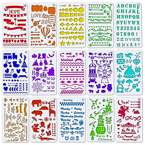 SUPVOX 15pcs Christmas Cake Template Stencil Cake Decorating Stencils Lace Plants Animals Pattern Cake Decorating Supplies (Mesh Cake Stencil)