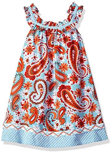 Sundress Jean Bonnie - Bonnie Jean Girls' Toddler Printed Poplin Sundress, Aqua 3T