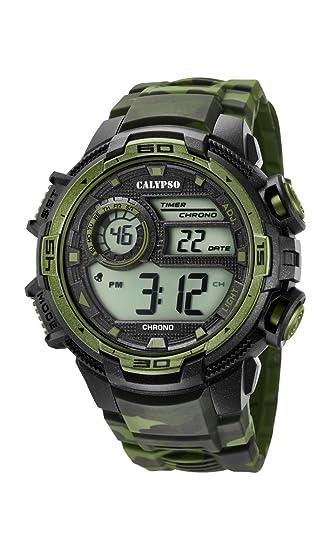 Calypso Reloj Digital para Hombre de Cuarzo con Correa en Plástico K5723/2: Calypso: Amazon.es: Relojes