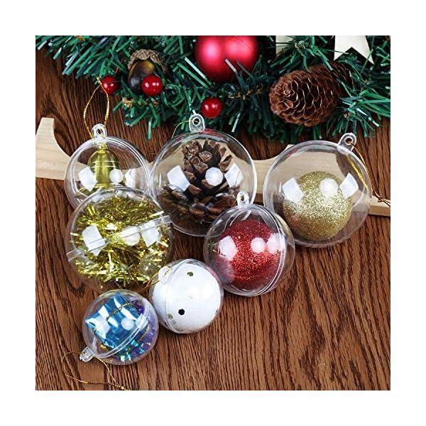 Okaytec Palline per Albero di Natale - Palle di Natale Trasparenti Come Addobbi Natalizi per Decorazioni Albero Natale - 20 pz (Diametro 6 cm) 6 spesavip