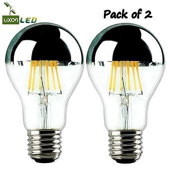 2Bombillas LED Luxon con efecto espejo. Bombilla Edison A606W 220V E27
