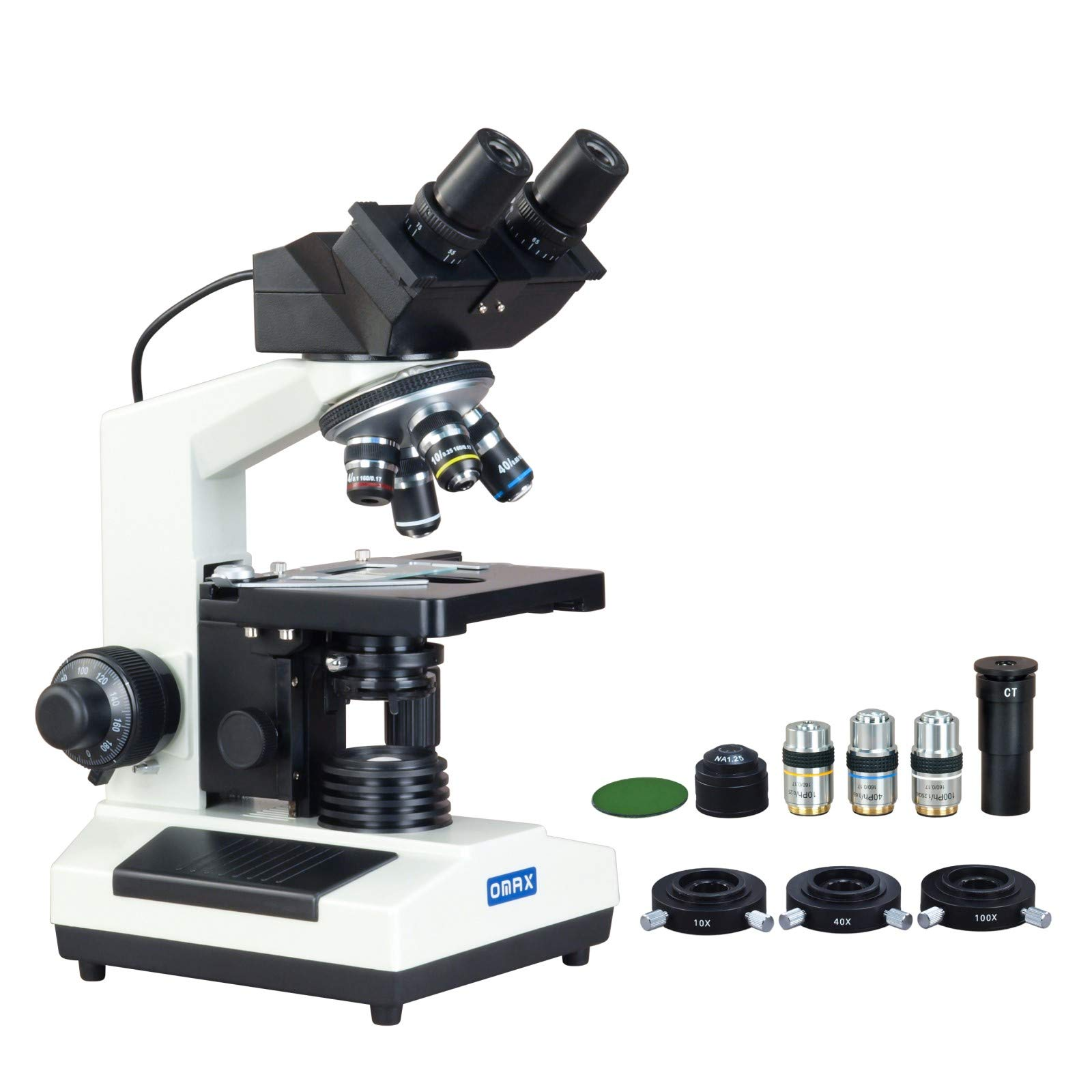 OMAX 40X-2000X Digital Binocular Phase Contrast Compound Microscope with Built-in 3.0MP USB and Interchangable Phase Contrast Kit by OMAX