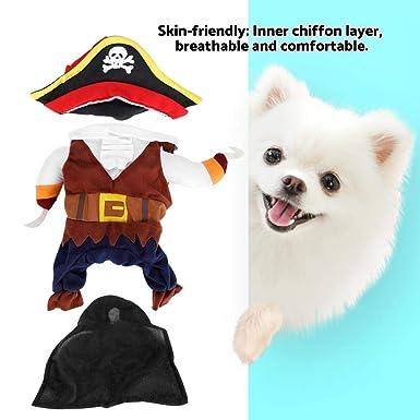 Ropa para Mascotas Traje de Traje de Perro Pirata Moda amigable ...