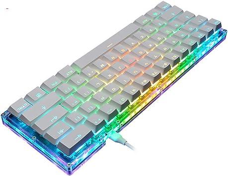 GYDP - Teclado mecánico, Teclado de Juego retroiluminado RGB ...