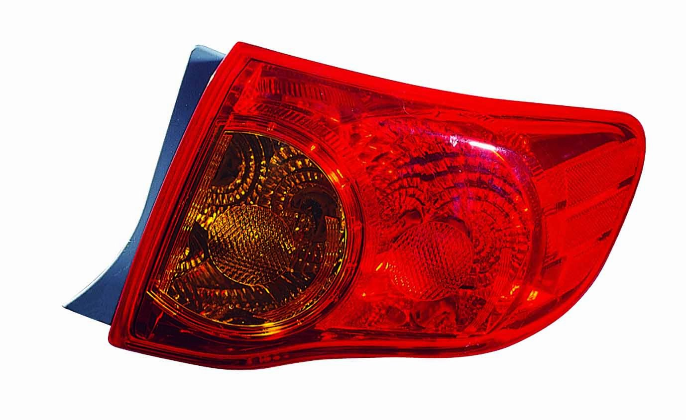 Depo 312-1992RKUS Toyota Corolla Passenger Side Outer Tail Lamp Assembly with Bulb and Socket