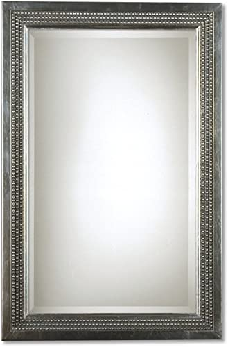 Uttermost 14411 25-Inch by 35-Inch Triple Beaded Vanity Mirror