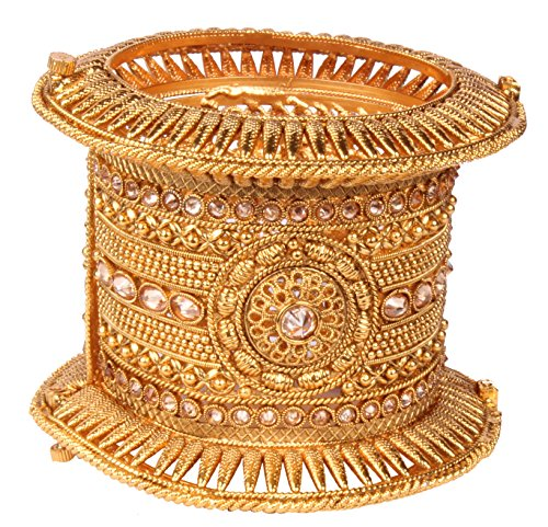 Bollywood Ethinic Fashion Gold Tone Indian Polki Bangle Ethnic Traditional Jewelry