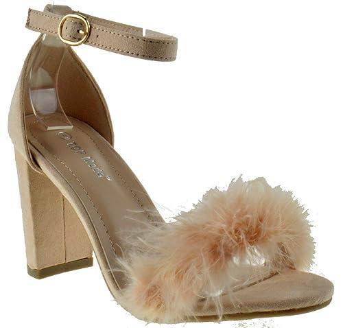 c850e8ccc71 Konner 30 Womens Feather Chunky Heel Sandals Blush 5