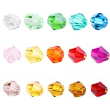 BEADNOVA 1500pcs 4mm Bicone Crystal Glass Beads For Jewelry Making Findings Wholesale Mix lots