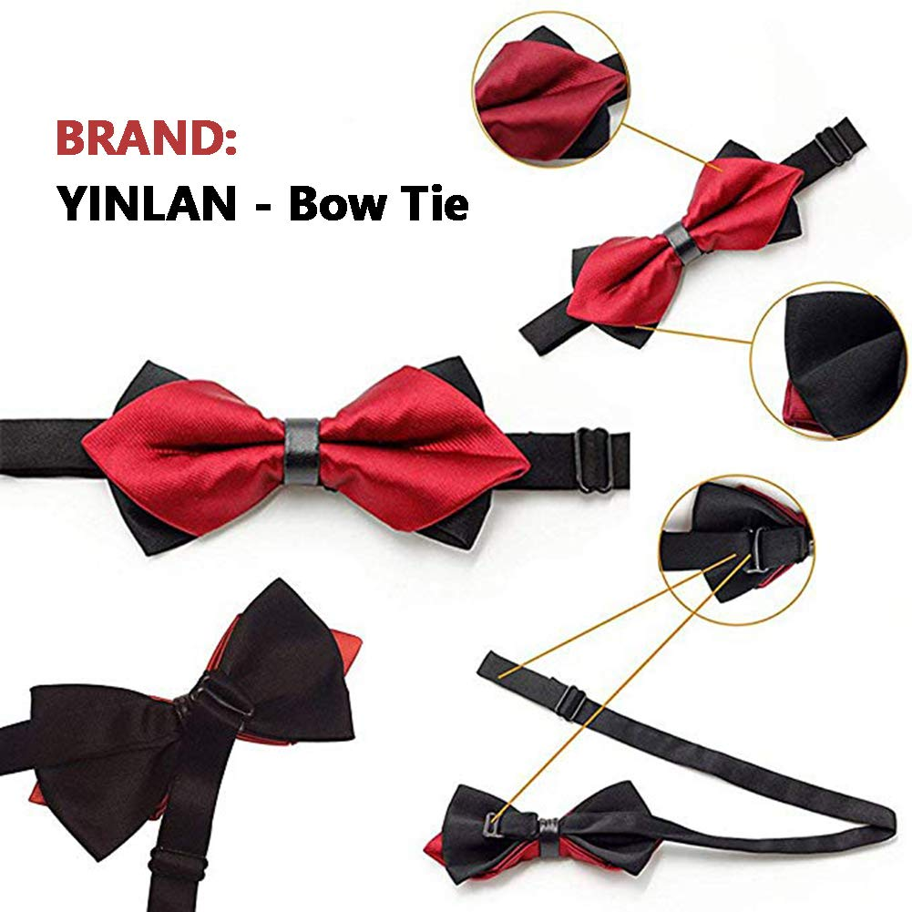 Deer Head Camoflauge YINLAN Fashion Elegant Pre-Tied Mens Bow Tie Tuxedo Adjustable Bowtie for Wedding Party
