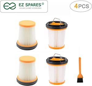 EZ SPARES 4pcs Replacement for Shark Filter,ION W1 Handheld Vacuum WV200, WV201, WV205, WV220. Compare to Part XHFWV200 Attachment