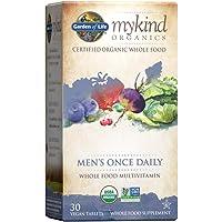 Garden of Life Multivitamin for Men - mykind Organic Men's Once Daily Whole Food Vitamin Supplement, Vegan, 30 Tablets