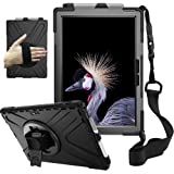 zenrich Surface Case for Pro 7 (2019) / Pro 6 (2018) / Pro 5 (2017) / Pro 4 (2015) with Pencil Holder, Stand, Hand Strap and
