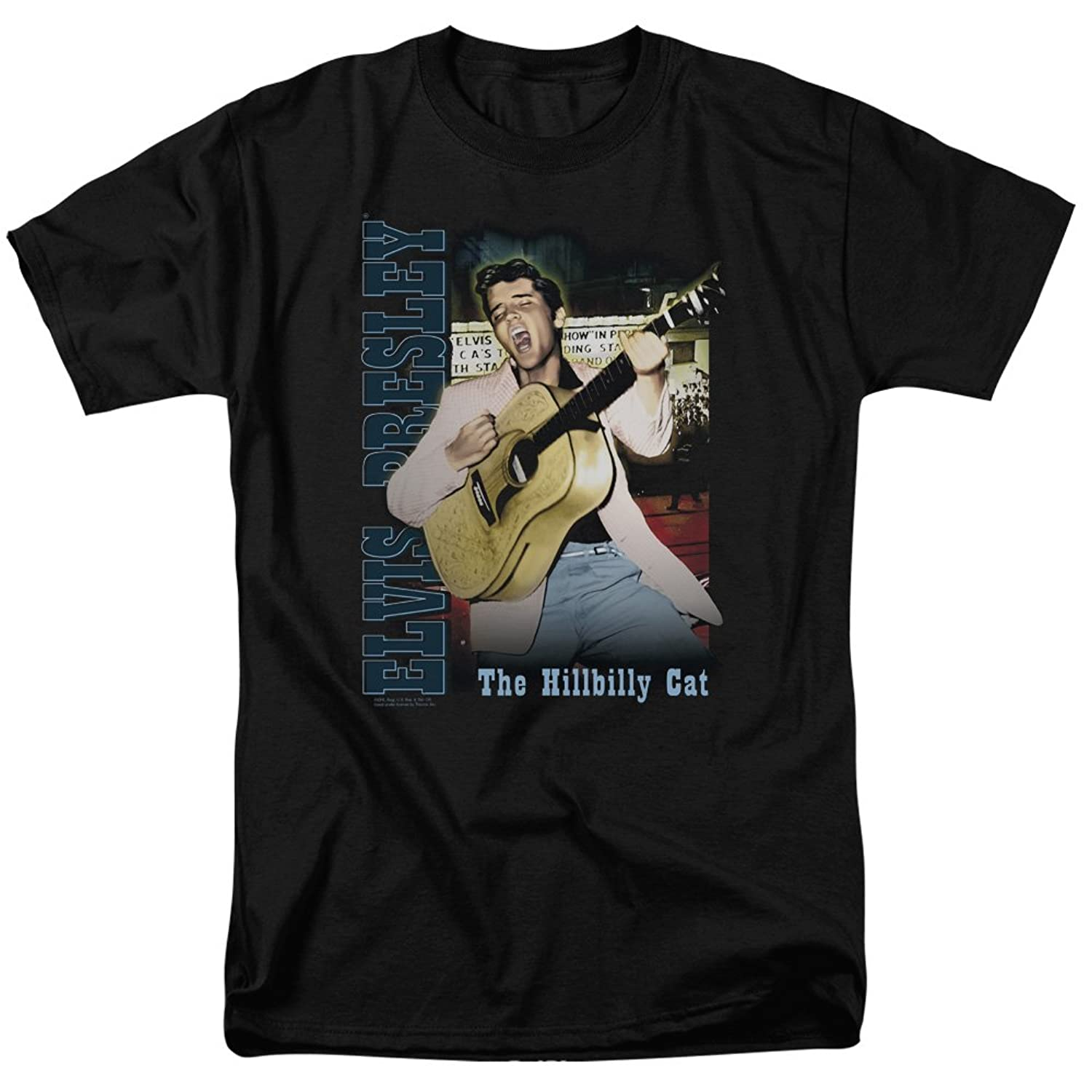 Elvis Presley King Of Rock Musical Icon The Hillbilly Cat Memphis Adult T-Shirt