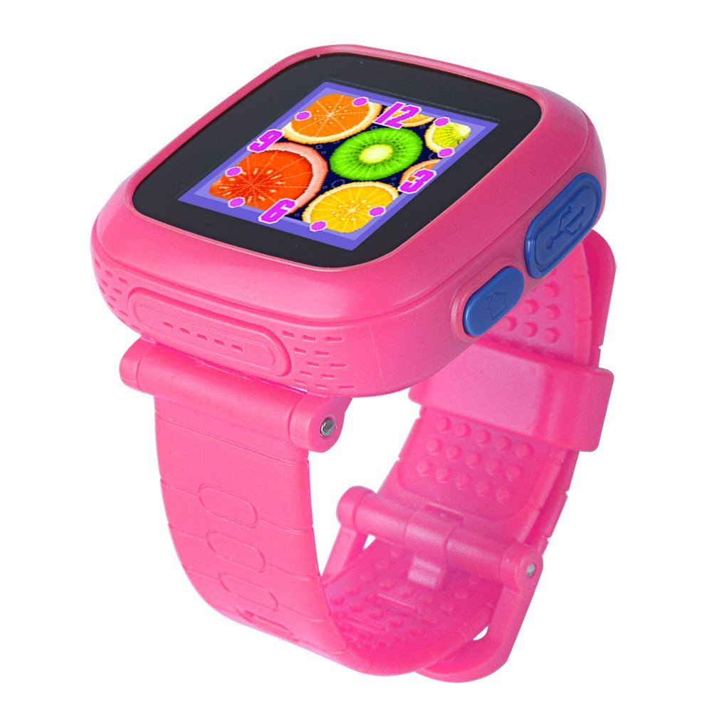 GBD Kids Game Watch,1.5'' Touch Smart Watches for Summer Birthday Gifts Travel Camping Kids Boys Girls with Pedometer Camera Alarm Clock Electronic Learning Toys (02Pink) by GBD (Image #2)