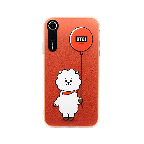 on sale ce996 520a7 iPhone XR Case, BTS BT21 Official Light Up Phone Case-Hang Out (RJ)