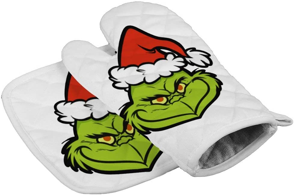 LijiahuaMitts Fun Gri-NCH Heat Resistant Oven Mitts and Pot Holders,Safe Kitchen Cooking Baking Grilling