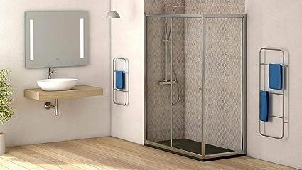 Mampara de ducha lateral fijo con cristal transparente templado de seguridad de 4mm modelo Bricodomo Catalonia ANCHO 80CM (medida adaptable 78 a 80cm): Amazon.es: Bricolaje y herramientas