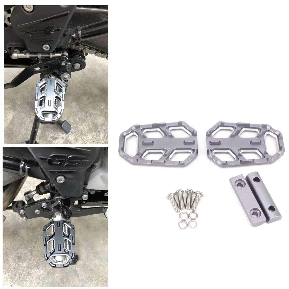 NBOMOTO Motorcycle Front Driver Stretched Floorboards For harley Footrest Touring black