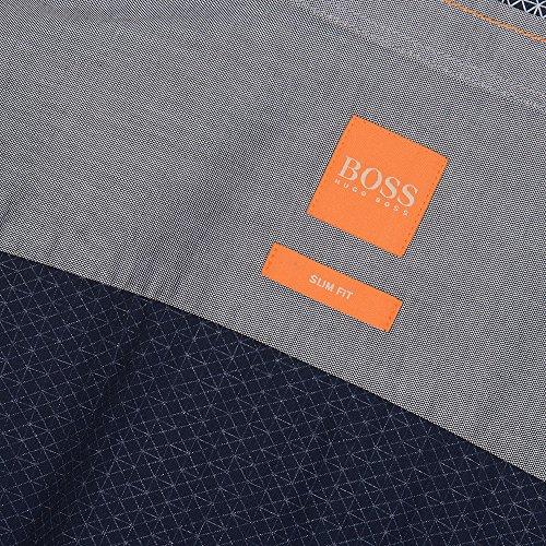 Hugo Boss Men's Hugo Boss Orange Men's Slim Fit EdipoE Dark Blue Long Sleeve Shirt