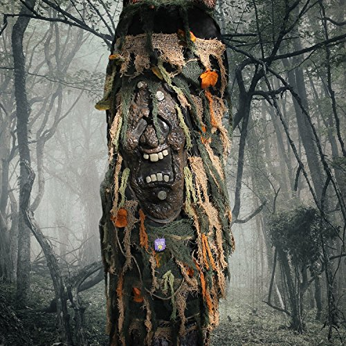 Halloween Haunters Scary Ghost Man Face Tree Trunk Wrap Cover Prop Decoration - Bring Living Tree to Life - Bark Covered Spooky Face