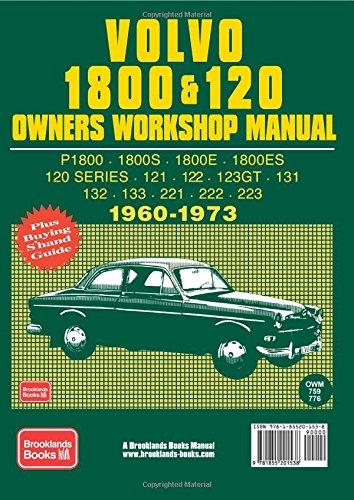 volvo 1800 120 owner s workshop manual 1960 1973 brooklands books rh amazon com Volvo XC90 Manual Volvo XC90 Manual