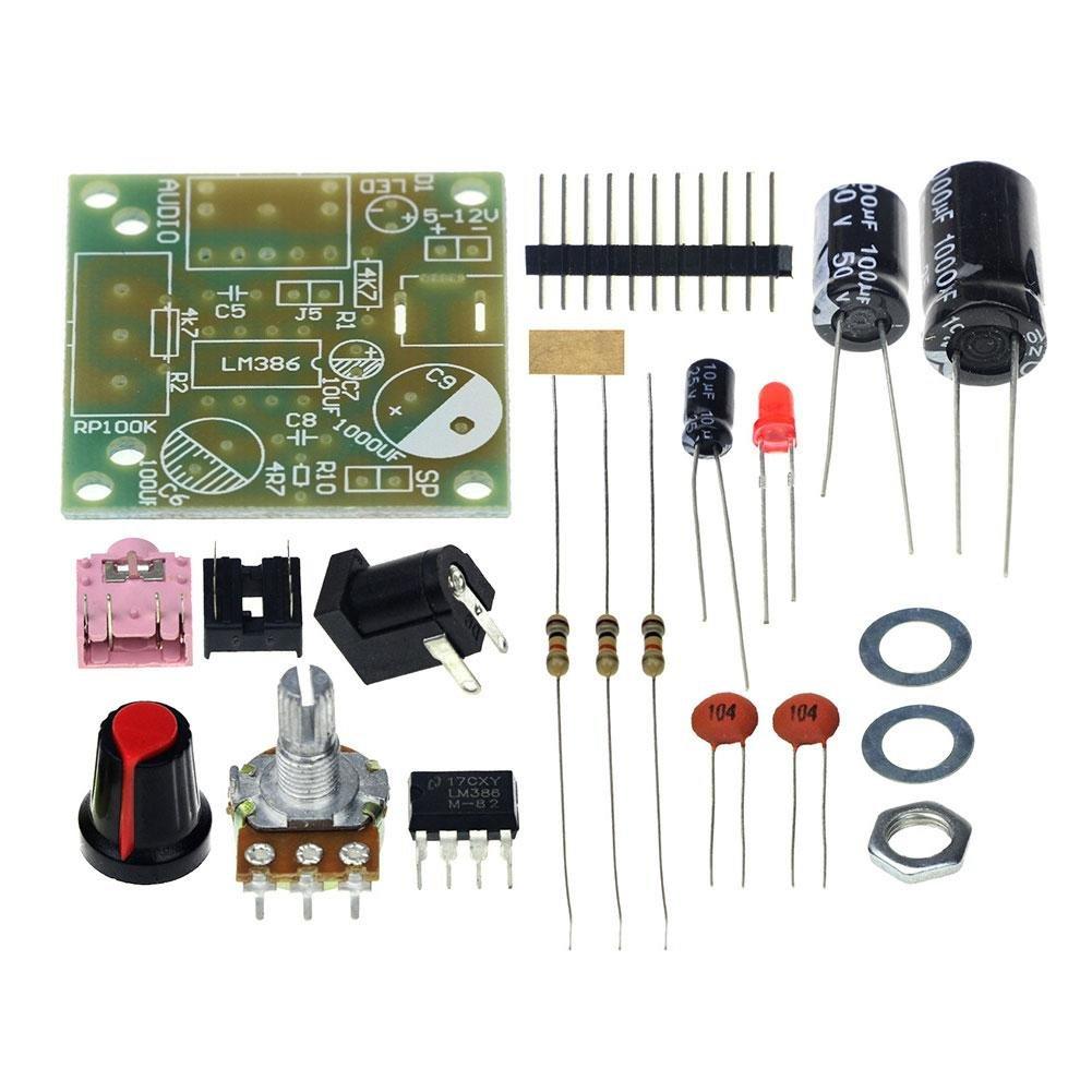 Tableau de module mini amplificateur de puissance audio Zhuotop - 3, 5 mm 3-12 V - Avec kit de bricolage 5mm 3-12V - Avec kit de bricolage ZT733403042253