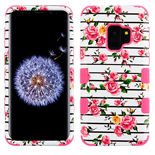 MyBat Cell Phone Case for Samsung Galaxy S9 - Pink Fresh Roses/Electric Pink Image