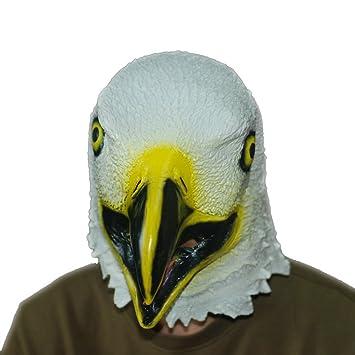 Jitong Halloween Águila Látex Cabeza Máscara para Masquerade, Pascua, Navidad Fiesta Novedad Trajes (
