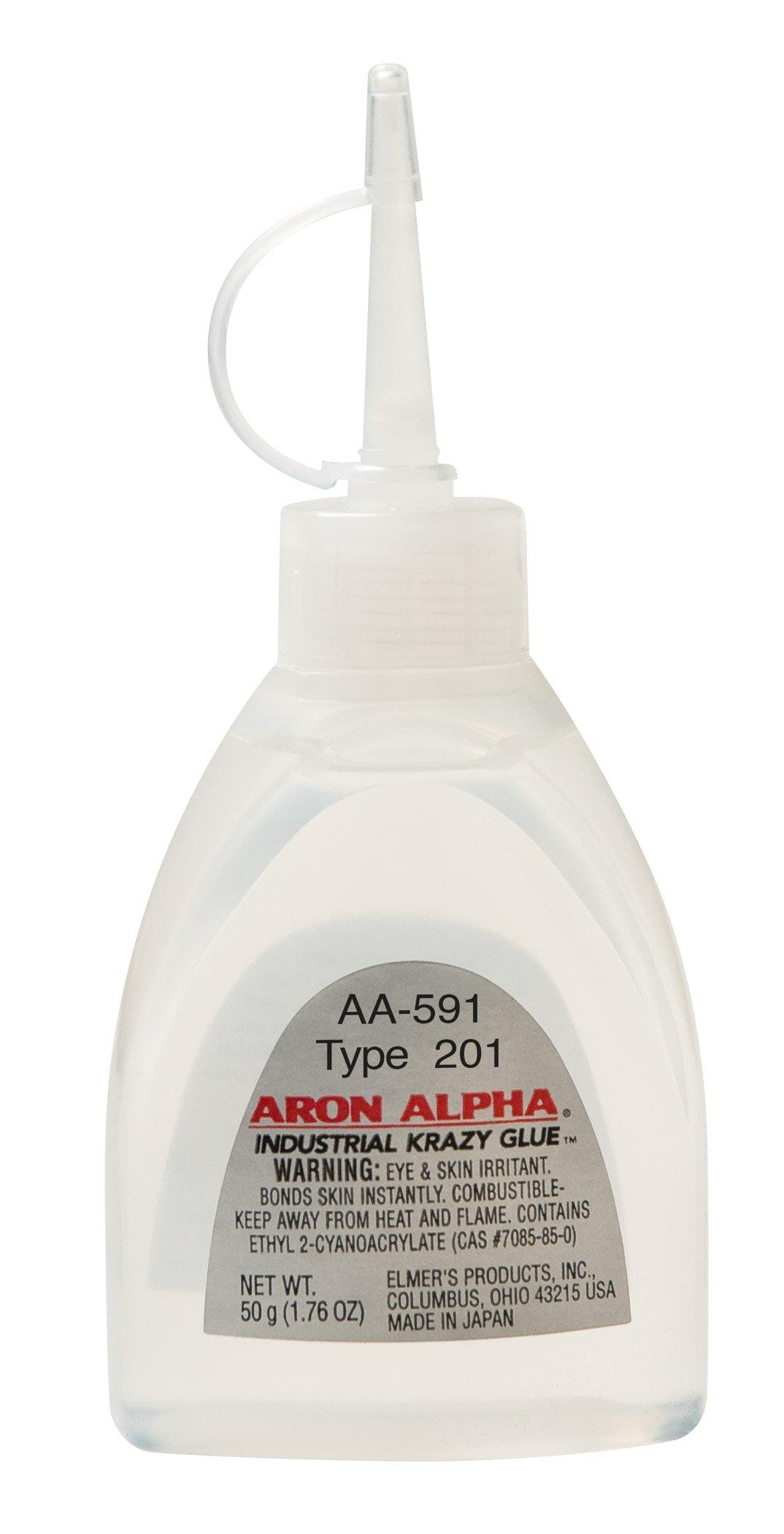 Aron Alpha Type 201 (2 cps viscosity) Regular Set Instant Adhesive 50 g (1.76 oz) Bottle