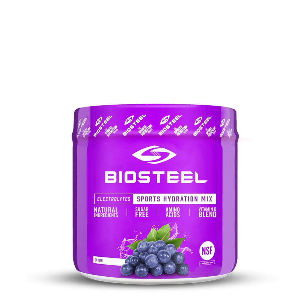 BioSteel High Performance Sports Hydration – Sugar Free Drink Mix, Grape, 20 Servings