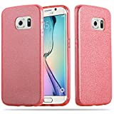 Cadorabo – Luxurious Glitter TPU Hard Case for Samsung Galaxy S6 EDGE - Etui Skin Bumper Slim Case Silicone Protective Cover in STARDUST-PINK