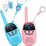 GOCOM Walkie Talkies for Kids,Kids Holiday Toys & Birthday Gifts, Kids Toys Handheld Child Gift Walky Talky 9 Channels 2…