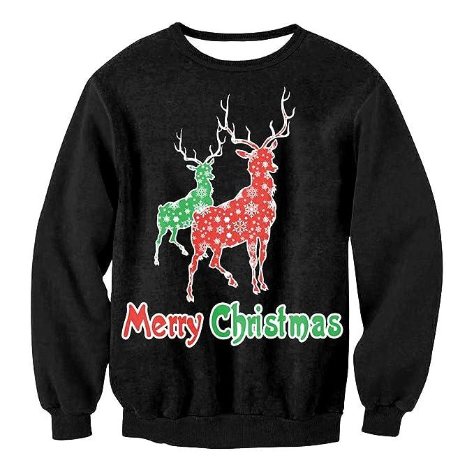 Christmas Sudaderas sin Capucha Jumpers, Sudaderas Divertidas para Hombre para Mujer Unisex Sweater imprimió Xmas Graphic Jersey: Amazon.es: Ropa y ...