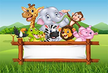 10x6.5ft Amazing Animals Backdrop for Child Baby Happy Party Photography Magic World Photo Shooting Use Props Background