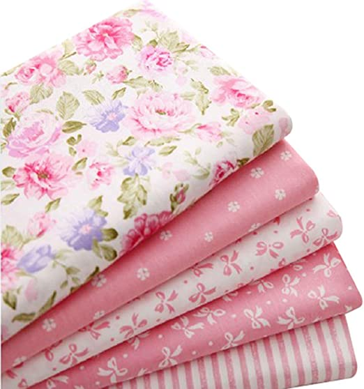 5pcs/lot 40 cm * 50 cm rosa 100% tela de algodón para coser retales Colchas Patchwork Seda Tilda - Gamuza de muñeca Kids ropa de cama Textil: Amazon.es: Hogar